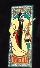 Le Disney Auction Pin✿Cruella 101 Dalmatian Dog Evil Villain Smoking Art Nouveau