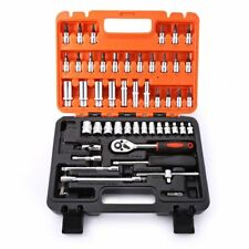 53pcs Automobile Motorcycle Repair Tool Case Precision Ratchet Wrench Sleeve
