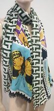 MARY KATRANTZOU Multi Colour Cashmere Blend Abstract Butterfly Rectangular Scarf