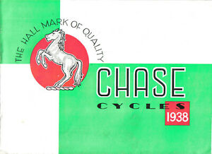 Chase Cycles 1938 Original 20 page booklet well illustrated Bicycle Brochure