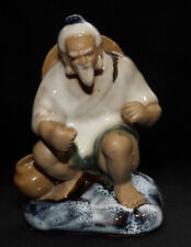 Vintage Chinese Shiwan Mudman Figurine / Statue / Ornament Of a Fisherman