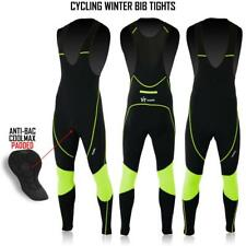 Men's Cycling Bib Tights Roubaix Thermal Cold Wear Padded Bicycle Long Tights