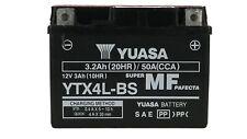 Batteria ricambio scooter Moto YUASA YTX4L-BS Con Acido 12V 3.2Ah 50A