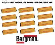 12X BARGMAN LED CLEARANCE SIDE MARKER LIGHT #38 SERIES AMBER TRUCK TRAILER NEW