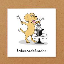 Funny Labrador Retriever Card - Birthday Thank you - dog owner lover - animal