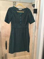 New Boden Green Mod Casual 100% Cotton Dress Size US 4R U.K. 8
