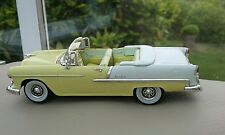 1:43 Diecast Yellow 1955 Chevrolet Bel Air Convertible Classic American Vitesse
