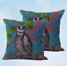 US Seller-set of 2 pillows covers shabby chic retro owl cushion cover