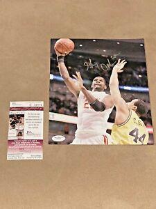 Greg Oden #20 signed Ohio State Buckeyes 8x10 Basketball photo JSA OSU