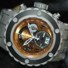 Invicta Men's Rare Subaqua Reserve Chronograph Orange Dial Grey Poly Watch 16253