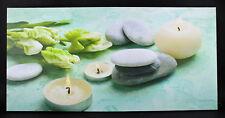Leinwand Bild Wandbild Leuchtbild Stein Bild mit 3 Beleuchtetes LED