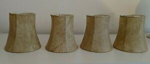 Chandelier Lamp Shades Vintage Clip On Lot of 4 -  4 x  4 x 2.5 Oilskin