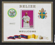 More details for belize sgms730 1983 pope's visit m/s mnh