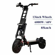 FLJ 13inch Electric Scooter with 6000W/60V Dual Engine Fat tire big wheel design