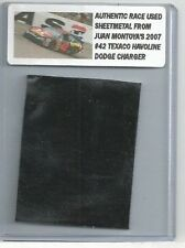 JUAN PABLO MONTOYA NASCAR RACE USED SHEET METAL CAR PIECE 2007 JPM 301