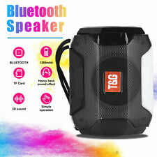 Bluetooth Wireless Speaker Bass Stereo Rechargeable AUX/USB/TF/FM Radio Portable
