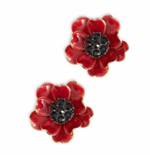 KATE SPADE PRECIOUS POPPIES POPPY STUDS EARRINGS