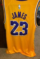 Lebron James autographed Lakers Jersey