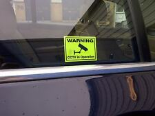 Car CCTV Stickers -  Deter Insurance Scams - Security Camera Warning Stickers