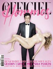 BENICIO DEL TORO  Controversial Cover 2013 L'OFFICIEL HOMMES PARIS   WILLY MOON