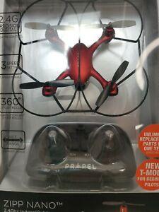 Propel Zipp Nano 2.4 GHz High Performance Stunt Drone Red Indoor Outdoor Remote