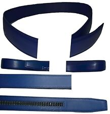 """Men's Leather belt strap Automatic sliding buckle Auto-lock Strap only 26 to 50"""""""