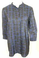Gap Maternity Sz M Navy With Black Polka Dots Pullover Shirt Blouse Top New