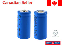 2pcs 16340 CR123A CR123 Battery 3.7V 780mAh Rechargeable Button Top Li-on Camera