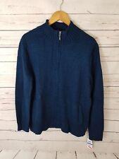 Karen Scott Women's Jacket Size Xl Zip Up Blue Neck Long Sleeve (R1)