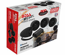 MCBK650B BOSS AUDIO 800 watt Motorcycle/ATV Sound System Black with Bluetooth em