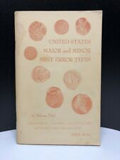 United States Major And Minor Mint Error Types By Ford Delmas Printed 1964