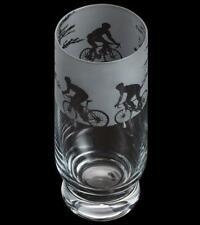 Dartington Crystal highball cycling glass etched Aspect high ball