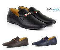 Mens Smart Casual Shoes Italian Loafers Fashion Slip on Leather Moccasin UK Size