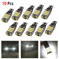 10Pcs Car Reverse Back Light Kits 6000K White 45SMD Error Free LED T15 W16W Bulb