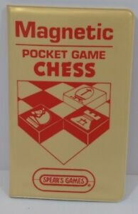 Vintage Spears 1983 Magnetic Pocket Game CHESS - Travel - Complete