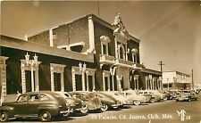 1940s RPPC Postcard; El Palacio, Cd. Juarez, Chihuahua Mexico MF 58 Cars