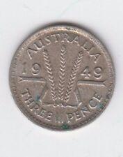 Australia Silver Threepence 1949