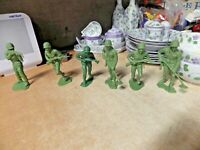 """LOT OF 6 VINTAGE 6"""" MILITARY TOY SOLDIERS MINESWEEPER MORE HONG KONG"""