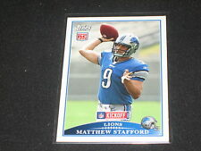 MATTHEW STAFFORD LIONS ROOKIE LEGEND PACK PULLED AUTHENTIC FOOTBALL INSERT CARD