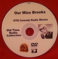 Our Miss Brooks 180 OTR Comedy Shows MP3 DVD Old Time Radio Shows Audio Book