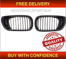 BMW 3 E46 SALOON & ESTATE 2001-2005 FRONT KIDNEY GRILLE BLACK PAIR LEFT+RIGHT