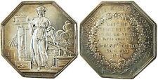 COMPAGNIE ASSURANCES MUTUELLES CONTRE L'INCENDIE  1819 ARGENT BARRE  PC  LAMPE