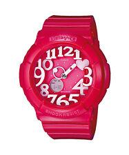 Casio Baby-g Bga-130-4b Ladies Analog Resin Band 100m WR Mineral Glass Watch