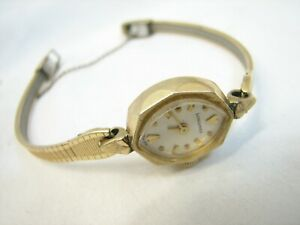 Vintage Ladies Longines Swiss Wrist Watch 10K Gold Filled Case & Band B