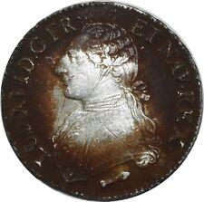 O1525 TRES RARE Ecu Louis XVI 1790 Q Perpignan Leg XVID Argent Silver ->F offre