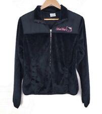 Hello Kitty Girls Black Fleece Zip Up Sweater Size Large