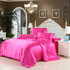 2018 Satin Silk Bedding Set Duvet Quilt Cover Pillow Case Sheet Twin/Queen/King