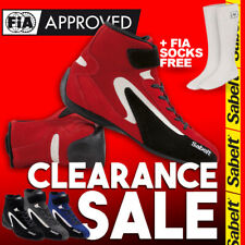 FIA Sabelt Street RS-200 Red Blue Black Grey Racing Shoes Boots CLEARANCE SALE!