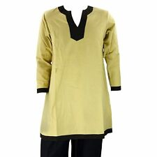 LARP Medieval Viscose Tunic Shirt Viking Reenactment Fancy Dress Camel