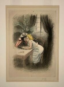 "Louis Legrand ""Les Amies des Montmartre"" (1901) Etching Aquatint Pencil Signed"